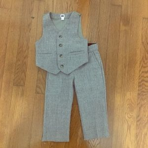 Janie and Jack Gray Vest Pant Suit 18-24